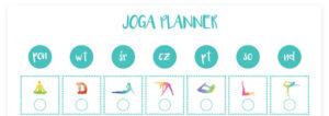 Planner tygodniowy do ćwiczeń jogi